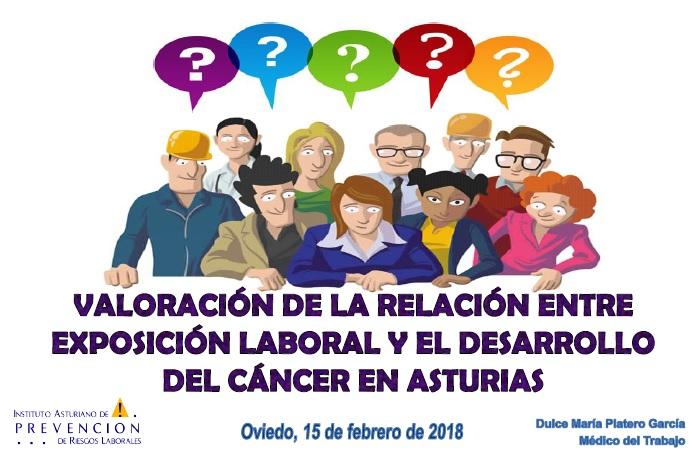 Relacion entre exposicion laboral y desarrollo del cancer en asturias