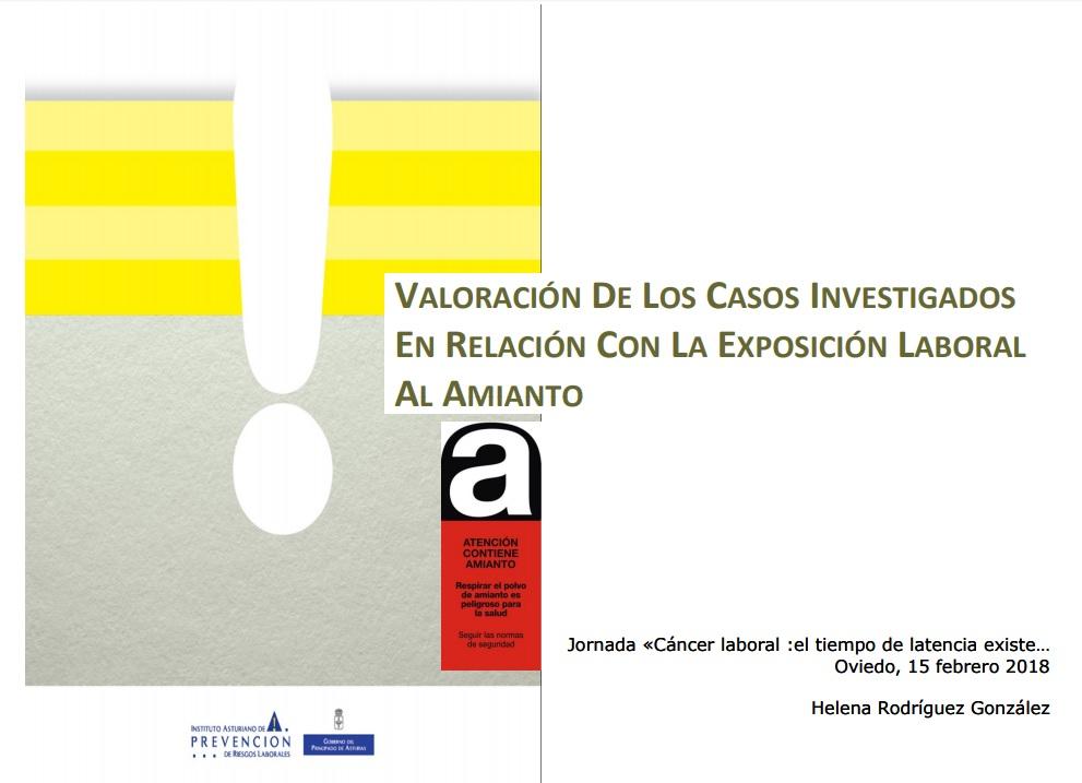 Exposicion al amianto